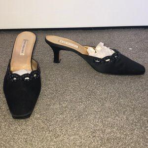Ann Marino black beaded heels